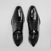 Zapatos Y.Yawata 211-26 sierra dib cordón NEGRO