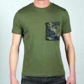 Camiseta Sseinse S19-ME1353SS VERDE MIL.
