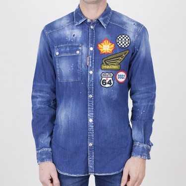 Camisa DSQUARED2 azul