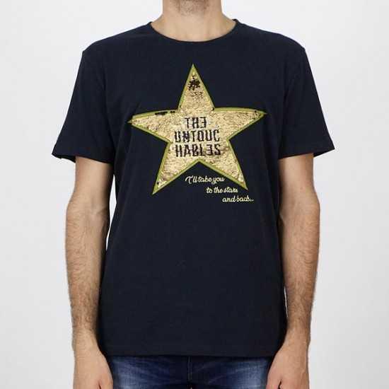 Camiseta The Untouchables 1321 star black Negro X