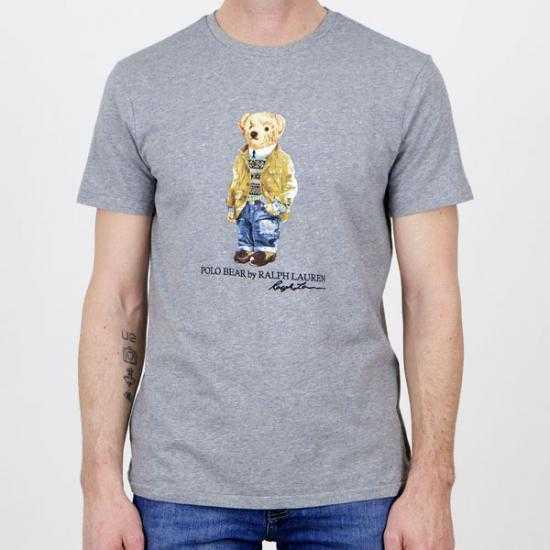 Camiseta Ralph Lauren 710835761002 Gris XL.