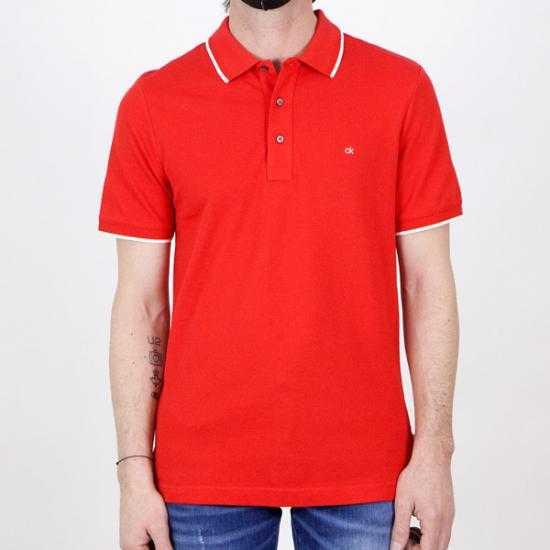 Polo Calvin Klein K10K107211XA9 Rojo XL.