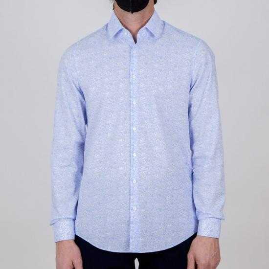 Camisa Calvin Klein K10K1066720GY Azul 43.