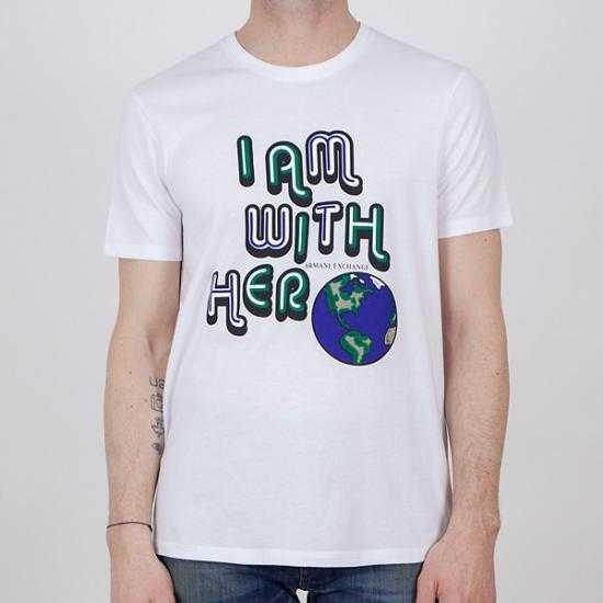 Camiseta Armani Exchange 3KZTBQ ZJ4LZ 1100  Blanco