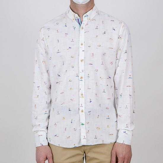 Camisa Colours & Sons 9121-300 305 Blanco XXL