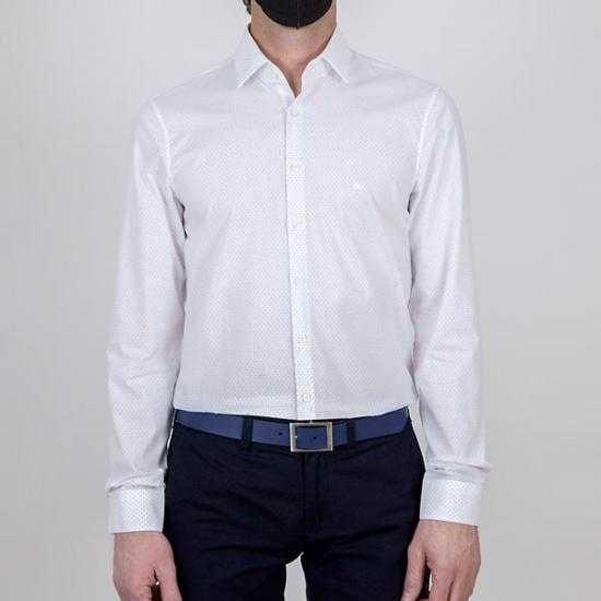 Camisa Calvin Klein K10K1066800GY Blanco 43.
