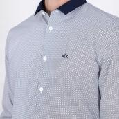 Camisa Armani Exchange 3KZC22 ZNJJZ 0148  Azul XL.