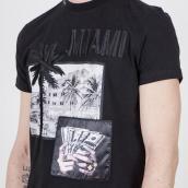 Camiseta My Brand 1-X21-001-A-0004 01BL Negro XXL