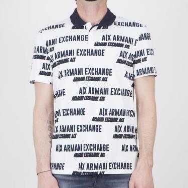 Polo ARMANI EXCHANGE blanco