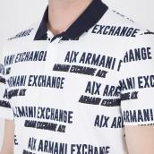 Polo Armani Exchange 3KZFAE ZJ7YZ 2103 Blanco XL.