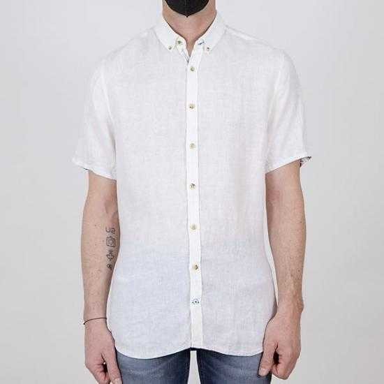 Camisa Colours & Sons 9121-330 211 Blanco XL.
