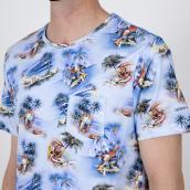 Camiseta Colours & Sons 9121-520 522  Azul XXL