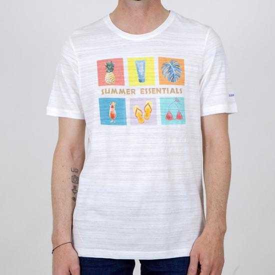 Camiseta Colours & Sons 9121-402 049 Blanco XXL