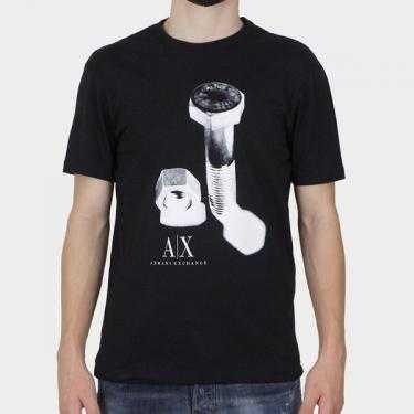 ARMANI EXCHANGE - Camiseta negra
