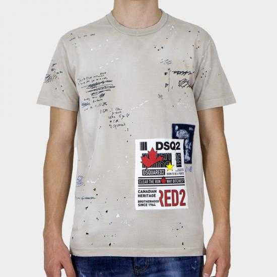 Camiseta Dsquared2 S74GD0896 S22427 800  Beis S..