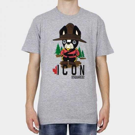 Camiseta Dsquared2 S79GC0034 S22146 857M  Gris S..
