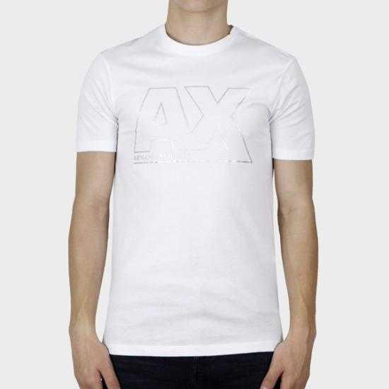Camiseta Armani Exchange 6KZTFA ZJBVZ 1100  Blanco