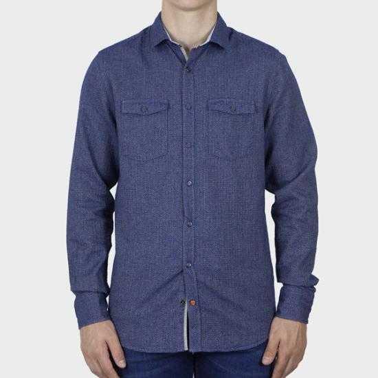 Camisa Colours & Sons 9221-310 313 Azul XL.